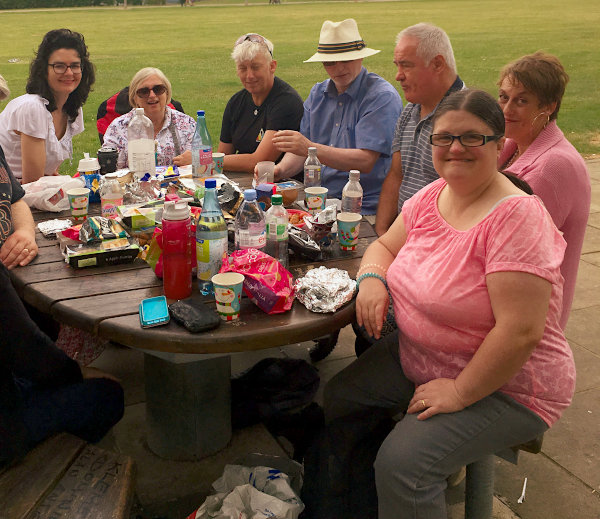 Picnic in Vale Park July 2019