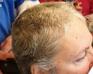 Tracey shaves her hair to raise funds for Space