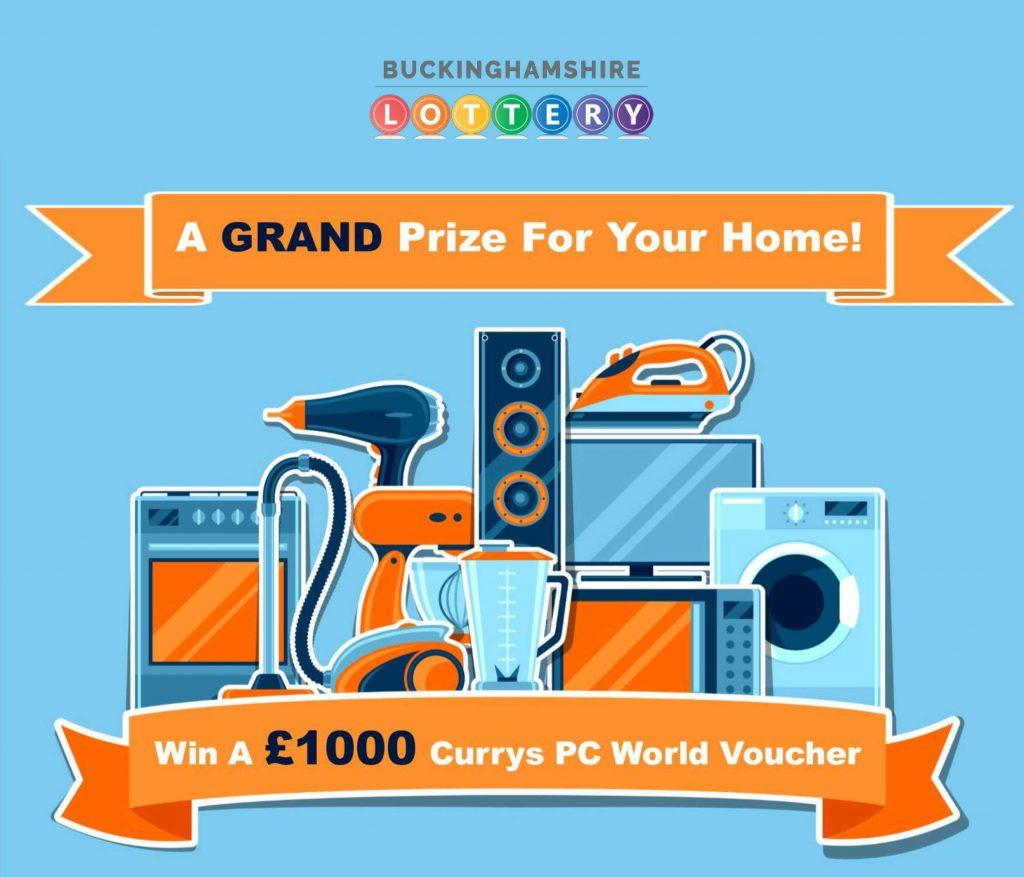 Bucks Lottery £1000 voucher