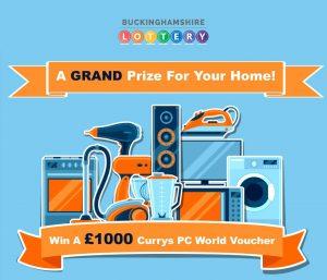 Buckinghamshire Lottery win £1000 Currys voucher