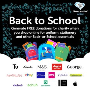 Back to school! Raise FREE donations when shopping for essential supplies